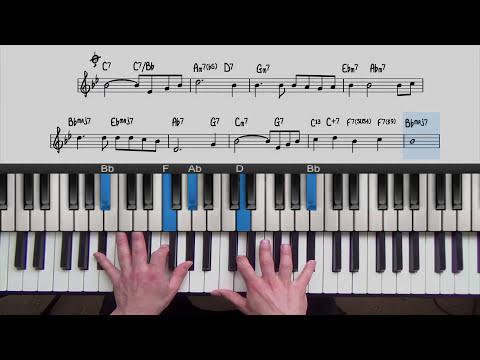 Jazz Piano Lesson: My Foolish Heart   PianoGroove.com