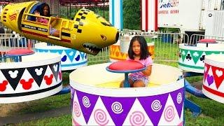 Kiddie Joyrides at Summer Fair | Scrambler Teacups Train Zinger Swing Ferris Wheel