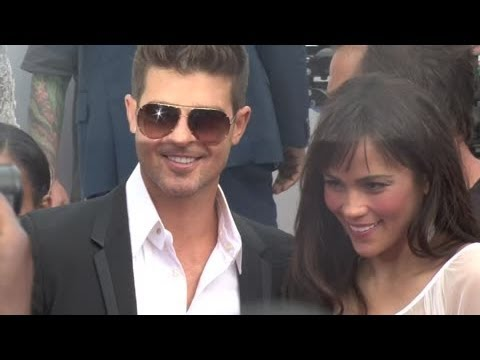 ROBIN THICKE ditches wife PAULA PATTON on BET Awards red carpet