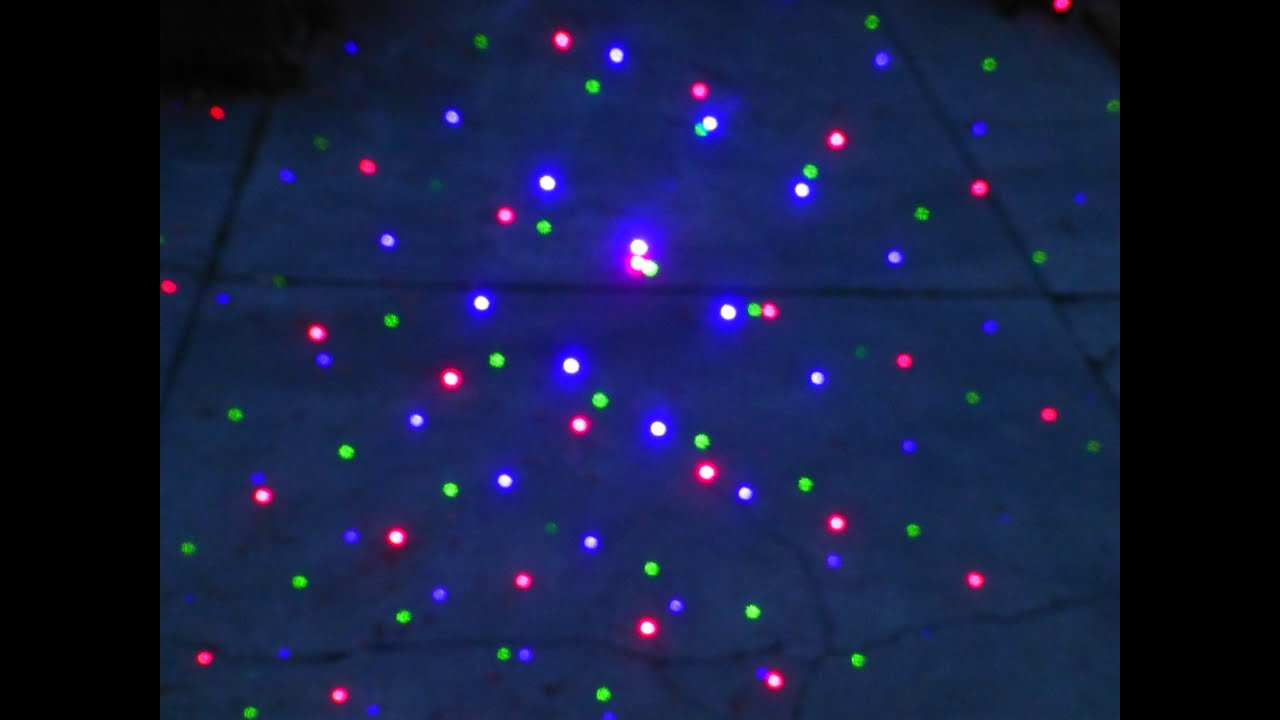 Red Green Blue Big Beam Laser Starfield Projector With