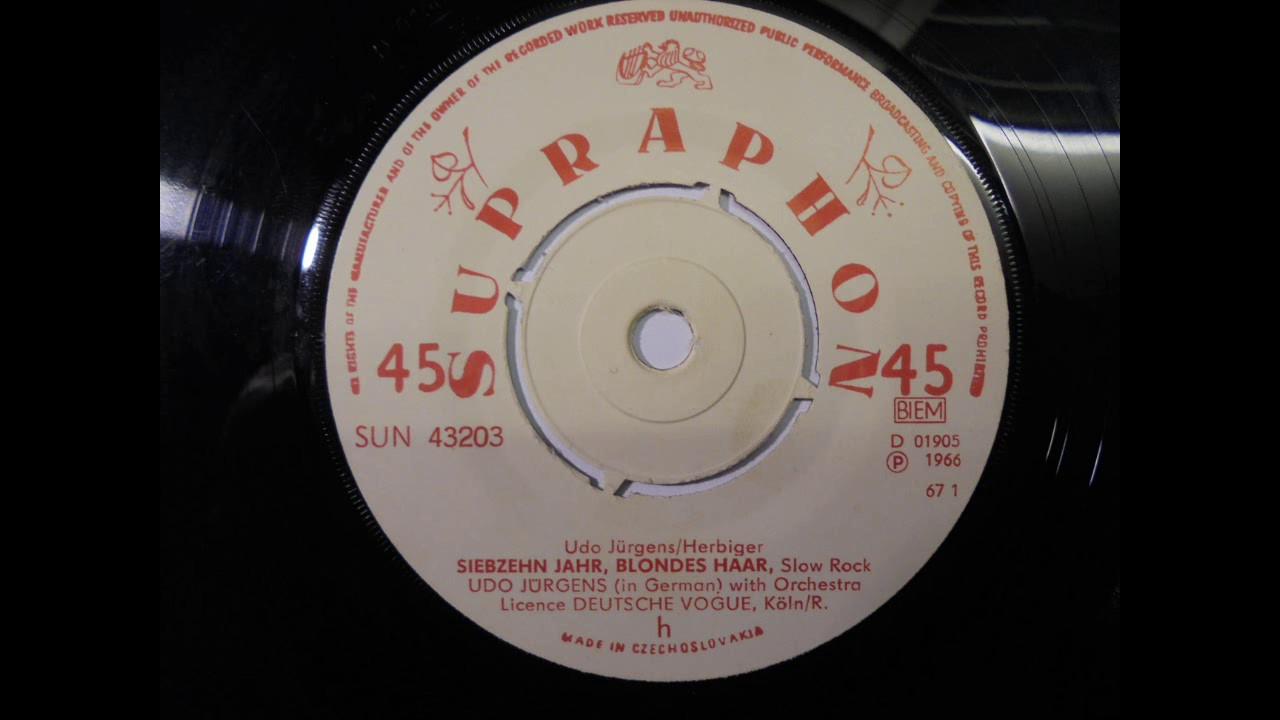 Siebzehn Jahr Blondes Haar Udo Jürgens 1965 Chords Chordify