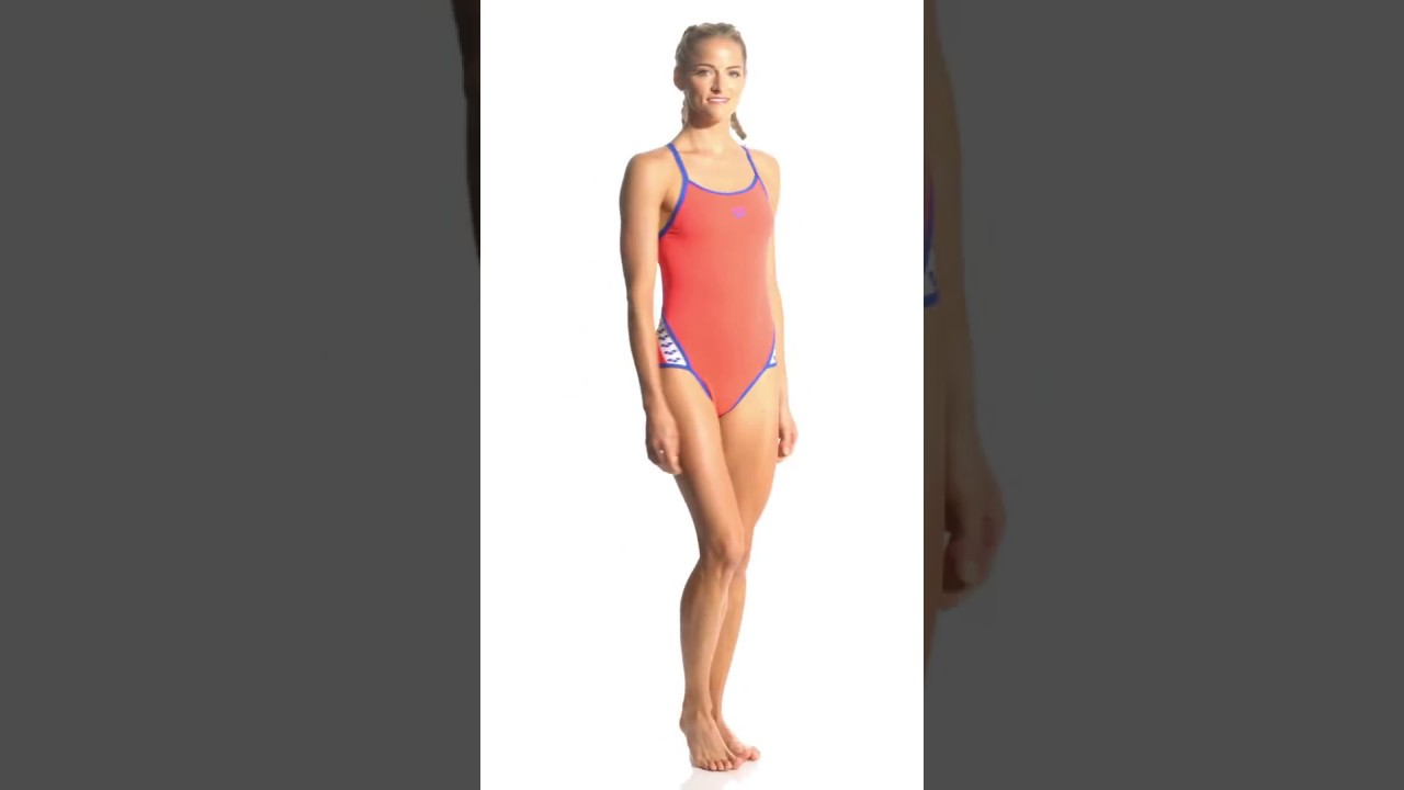 f4a079de4e Arena Women's Team Stripe MaxLife SuperFly Back One Piece Swimsuit    SwimOutlet.com