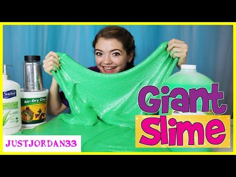 Giant Slime Making With Giant Ingredients / JustJordan33