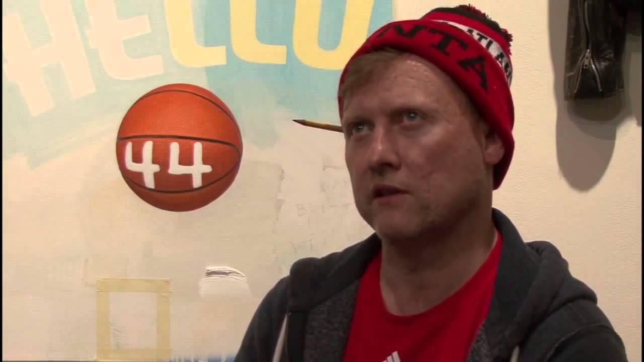Craig Drennen Dedicates Painting to Basketball Hall of Famer Dan