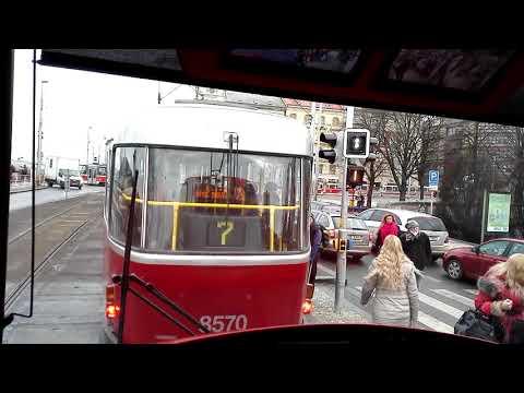 Prague tram line 20 (temporary route 20+2) (Nádraží Braník - Divoká Šárka)