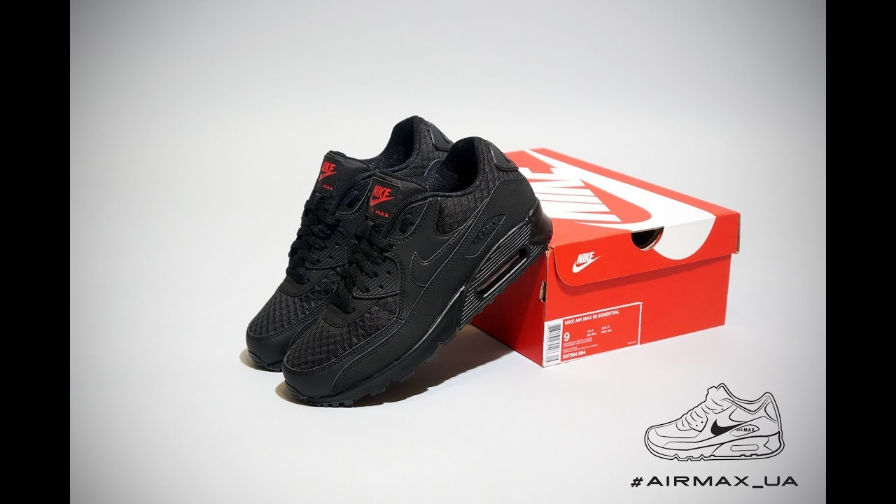 huge discount 83202 c6289 Nike Air Max 90 Essential Black Silver Red