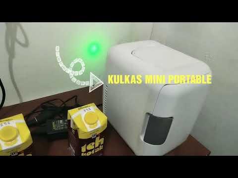Kulkas Mini Portable yg Simple Buat Anak Kost , Karyawan ato Apartement