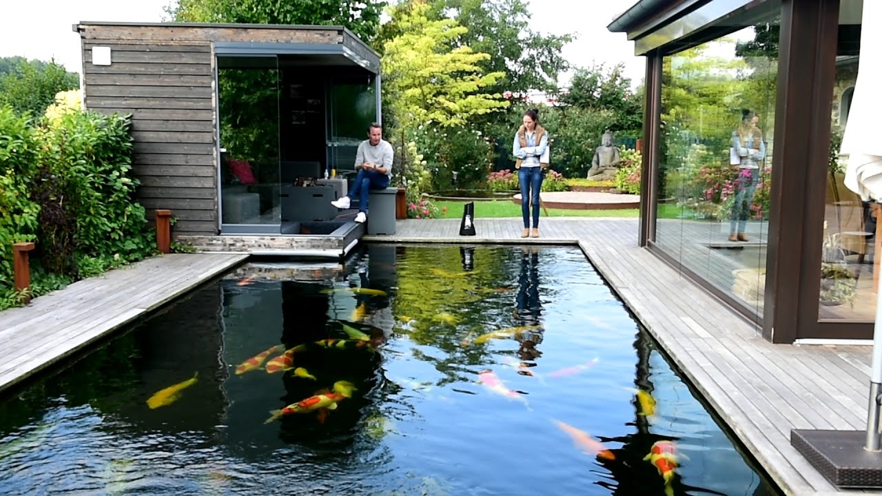 Modern koi blog 1166 wasserwechsel in der kalten for Contemporary koi pond design