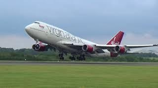 Video Virgin Atalntic B747-400 stunning departure download MP3, 3GP, MP4, WEBM, AVI, FLV Juni 2018
