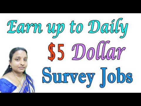 Earn up to Daily $5 dollars | Online Survey Jobs in Tamil