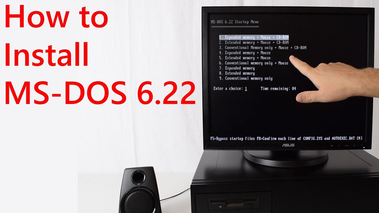How to install MS DOS 6 22