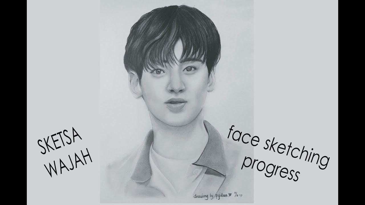 Cara Menggambar Wajah Cha Eun Woo Menggunakan Pensil How To