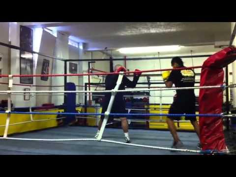 Andrew Kometa Middleweight boxer from Kiribati training at Crewe ABC.mp4