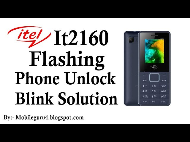 how to unlock itel button phone