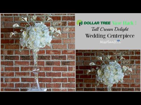 DIY Tall   Cream Delight Wedding Centerpiece | Tall Glam Centerpieces on a Budget | DIY Tutorial