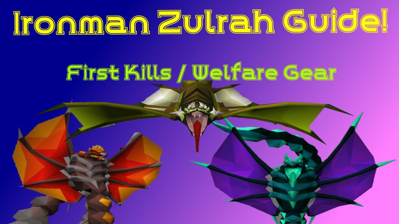 Ironman Zulrah Guide - First Kills / Starting Off with Welfare Gear!