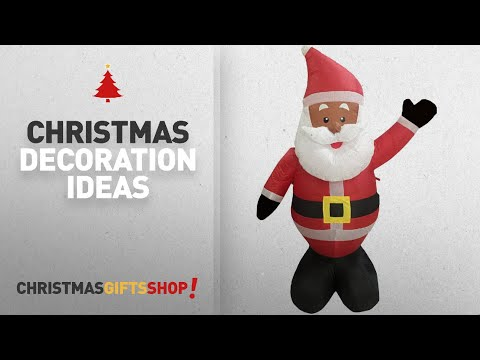 Top African American Christmas Decorations: Nicky Bigs Novelties 48 Inch Ethnic Santa Holiday