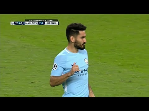 Ilkay Gundogan vs Napoli (Local) 17/10/2017 HD
