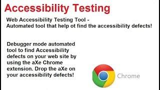 Accessibility Testing - Web Accessibility Testing Tool