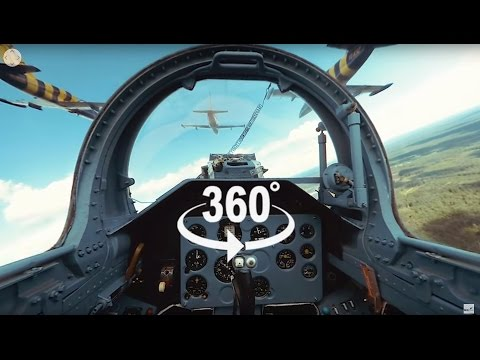 Fighter Jet Formation Flying 360° video – 6 Jets!