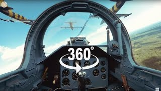 Fighter Jet Formation Flying 360° video - 6 Jets! thumbnail