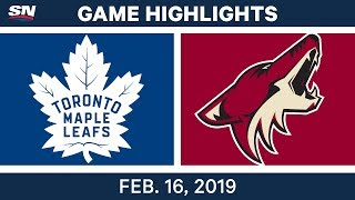 NHL Highlights | Maple Leafs vs. Coyotes - Feb 16, 2019
