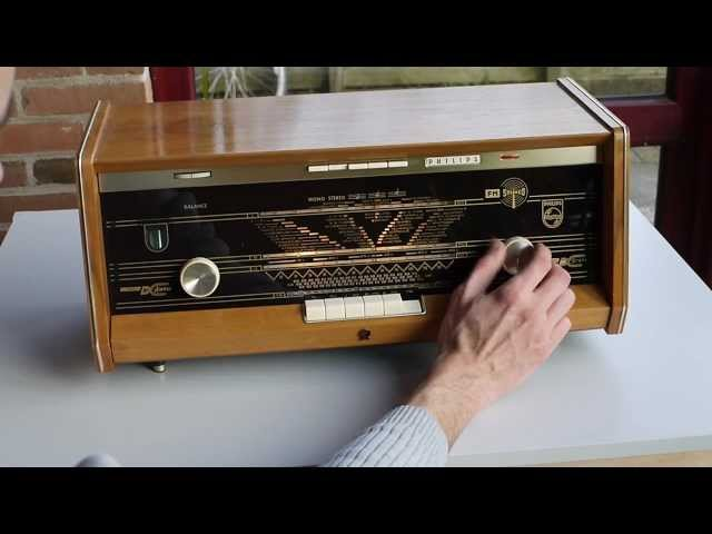 Philips B5X23a FM stereo tube radio