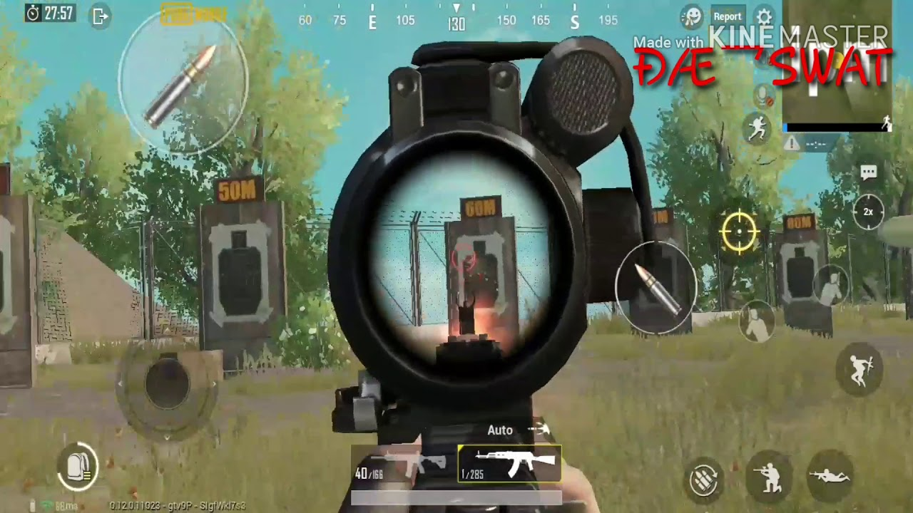 || Pubg-m || aim practice || trying to use ARs for long range