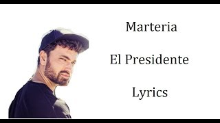 Marteria El Presidente Lyrics