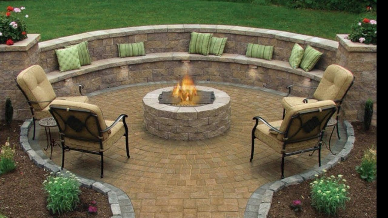 installing circle paver kit pathway firepit retaining wall and seating area part 1