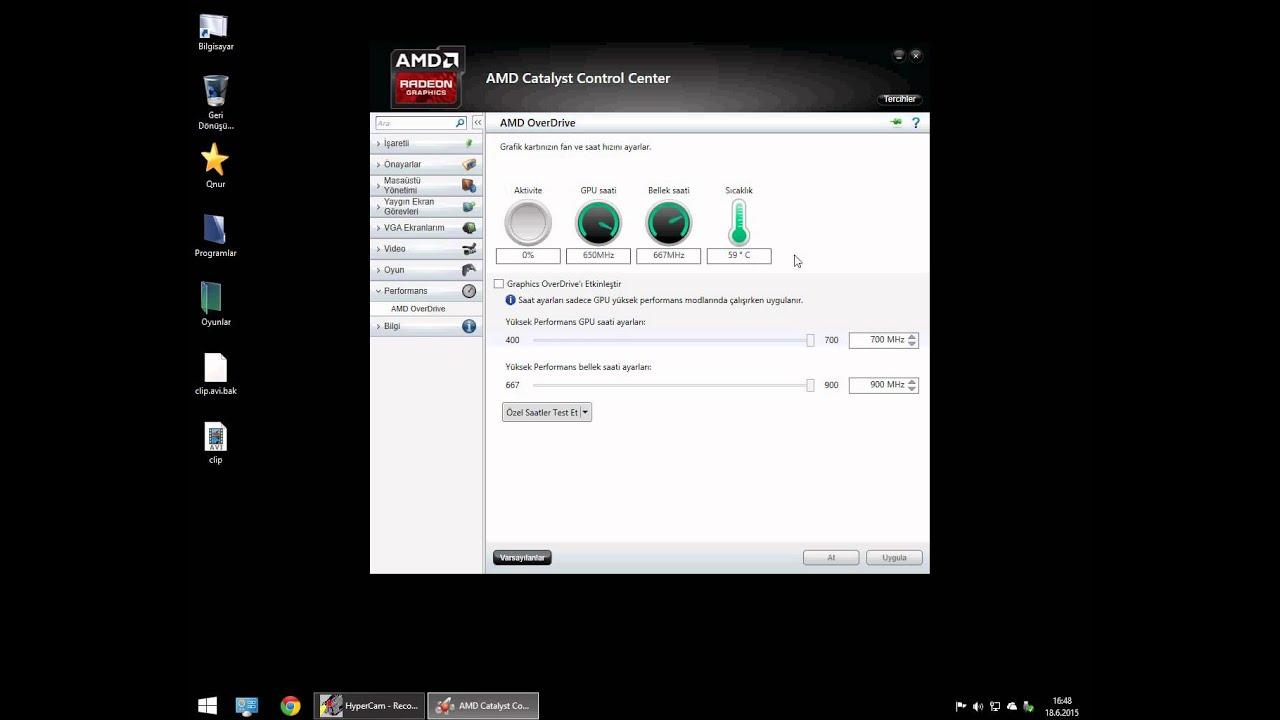 Oyunlarda FPS Artırma #2 AMD Catalyst Control center ( Performans ayarları )