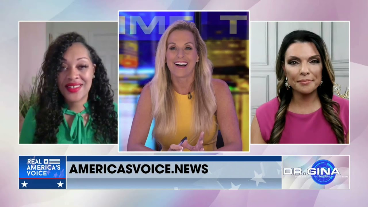 Karyn Hosts Dr. Gina Prime Time on Real America's Voice News