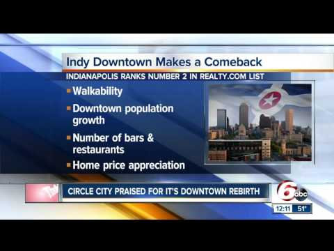Indianapolis named one of top downtown cities