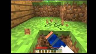 Minecraft-survival parte 1 (con mi muñequito de arcilla)