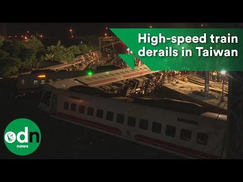 High-speed train derails in Taiwan