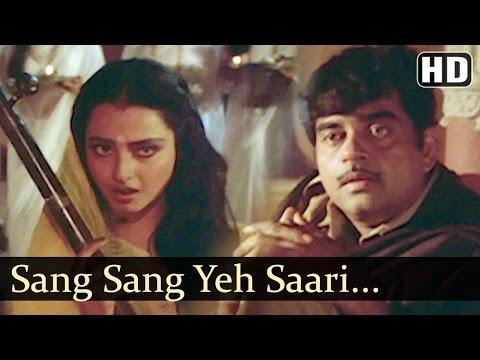 Sang Sang Yeh Sari Duniya | Maati Maange Khoon Songs | Shatrughan Sinha | Rekha | Dance | Filmigaane