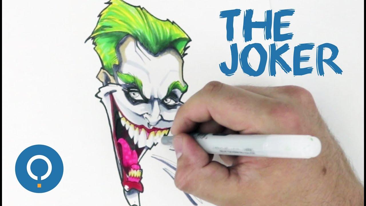Cómo dibujar a Joker versión cómic - ¡Muy fácil! - YouTube