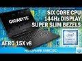 Gigabyte AERO 15X  i7 8750H youtube review thumbnail