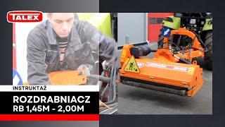 Intsruktaż agregowania maszyny TALEX RB 145  160 180 200  z ciągnikiem