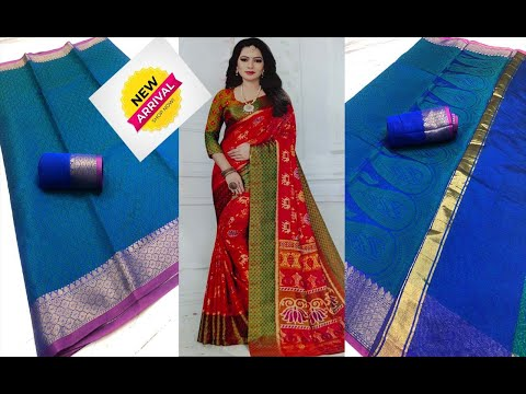 latest thai silk sarees || most likable splended blue silk sarees collections for wholesale price from YouTube · Duration:  6 minutes 36 seconds