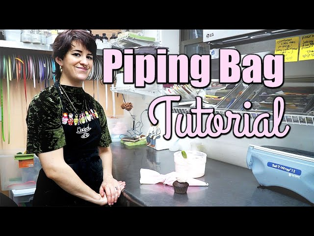 How to Fill a Piping Bag with Frosting! | Beginner Cake Tutorial