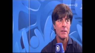 WM Deutschland gegen Argentinien 1 - 0 FINALE WM 2014 INTERVIEW Joachim Löw