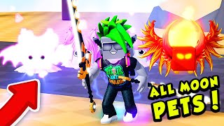 Getting an ENTIRE TEAM of the BEST MOON PETS in Roblox Saber Simulator!