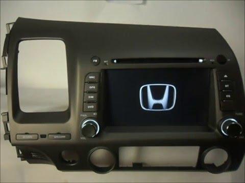 honda civic 2006 2011 car stereo dvd bluetooth gps. Black Bedroom Furniture Sets. Home Design Ideas