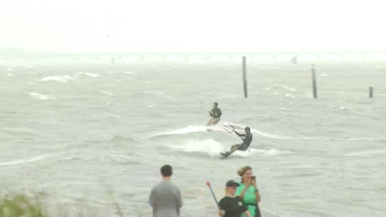 Kite Surfers Va Beach Ahead Of Hurricane Florence
