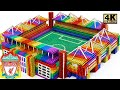 Build Anfield Stadium of Liverpool FC From Magnetic Balls (Satisfying) | Magnet World Series