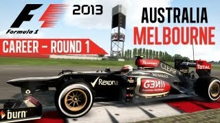 F1 2013 Gameplay - Career Mode - Round 1 Melbourne Australia (Walkthrough Part 1)