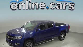 A99040ET Used 2016 Chevrolet Colorado Z71 4WD Crew Cab Blue Test Drive, Review, For Sale