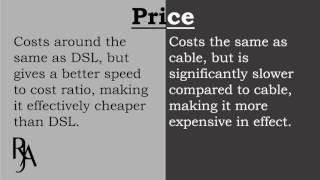 Difference between Cable And DSL