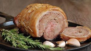 Как приготовить фаршированную баранину. | How to cook stuffed lamb.